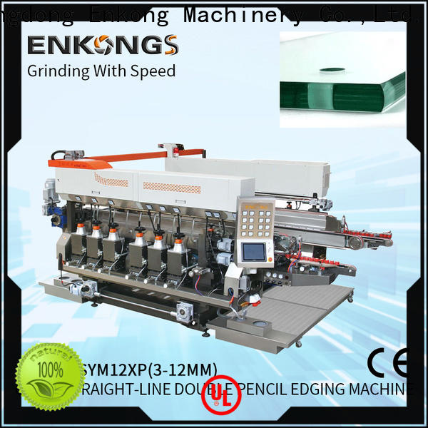 Enkong straight-line glass double edging machine supplier for photovoltaic panel processing