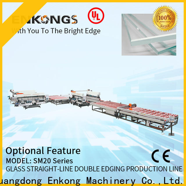 real glass double edging machine SM 20 manufacturer for round edge processing