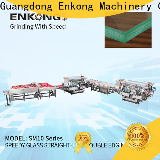 Enkong quality glass double edging machine wholesale for round edge processing