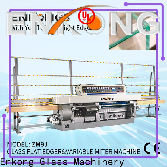 professional glass mitering machine 5 adjustable spindles supplier for polish