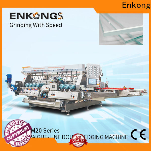 Enkong straight-line glass double edging machine manufacturer for household appliances