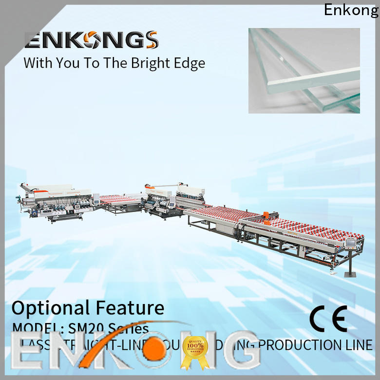 Enkong SM 10 glass double edging machine manufacturer for photovoltaic panel processing