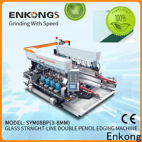 real glass double edging machine SM 22 manufacturer for round edge processing