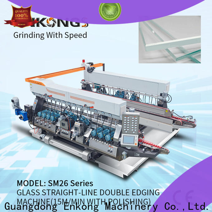 real glass double edging machine SM 12/08 manufacturer for photovoltaic panel processing
