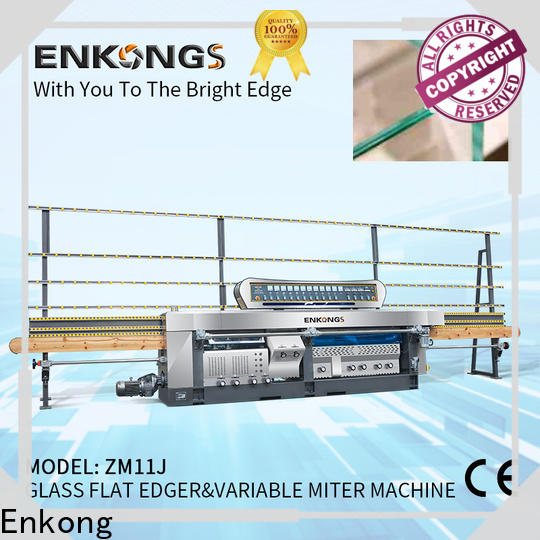 Enkong real glass mitering machine customized for polish