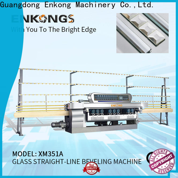 Enkong xm363a glass beveling machine for sale manufacturer for glass processing