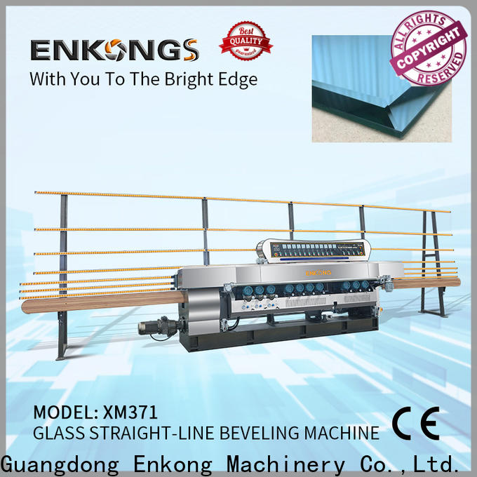 Enkong 10 spindles glass beveling machine series for glass processing