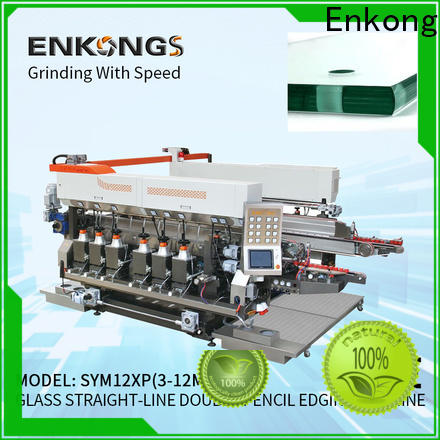 Enkong SM 12/08 glass double edging machine supplier for round edge processing