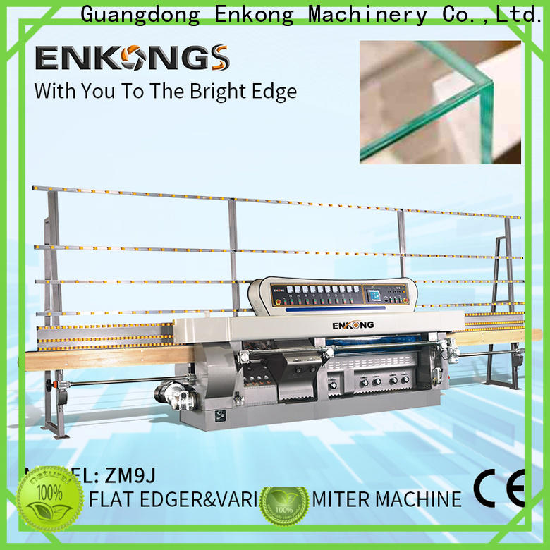 Enkong real glass mitering machine manufacturer for grind