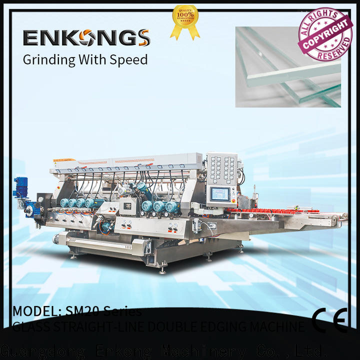 Enkong modularise design glass double edging machine wholesale for round edge processing