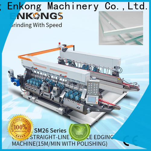 quality glass double edging machine SM 20 series for round edge processing