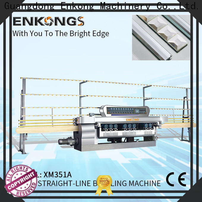 Enkong good price glass beveling machine for sale factory direct supply for glass processing