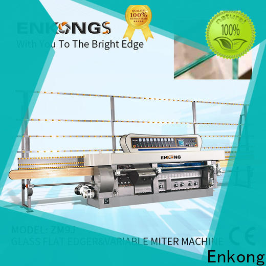 Enkong real glass mitering machine wholesale for polish