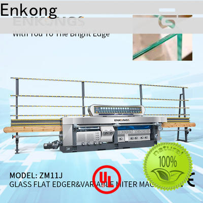 Enkong 60 degree glass mitering machine customized for polish