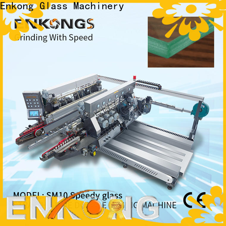 Enkong modularise design glass double edging machine manufacturer for round edge processing