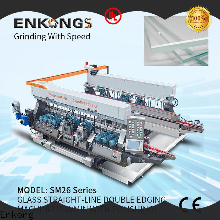 Enkong SYM08 double edger machine manufacturer for photovoltaic panel processing
