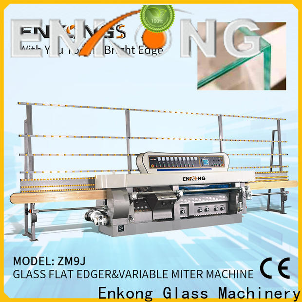 Enkong 5 adjustable spindles glass mitering machine wholesale for polish