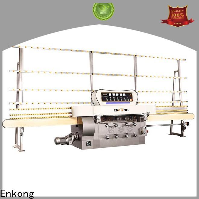 Enkong zm9 glass edge polishing machine customized for fine grinding