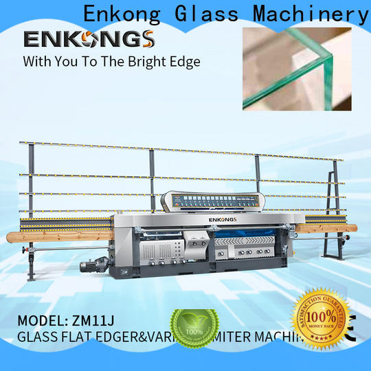 Enkong 5 adjustable spindles glass mitering machine manufacturer for polish