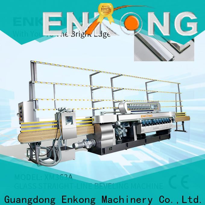 Enkong xm351a glass beveling machine for sale manufacturer for glass processing
