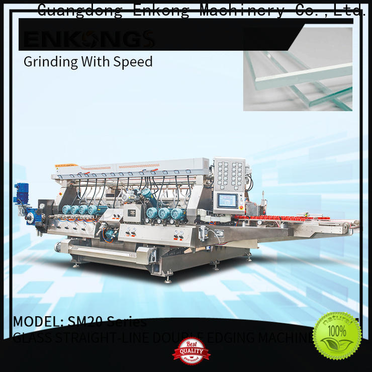 Enkong SYM08 glass double edging machine factory direct supply for household appliances