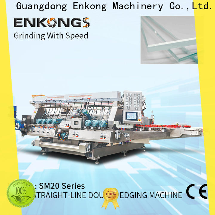 Enkong SM 12/08 glass double edging machine supplier for photovoltaic panel processing