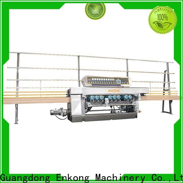 Enkong good price glass beveling machine for sale manufacturer for polishing