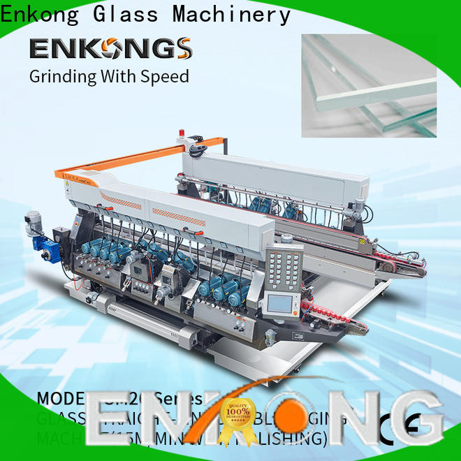 Enkong quality glass double edging machine series for round edge processing