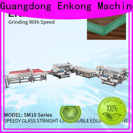 Enkong SM 10 glass double edging machine supplier for round edge processing