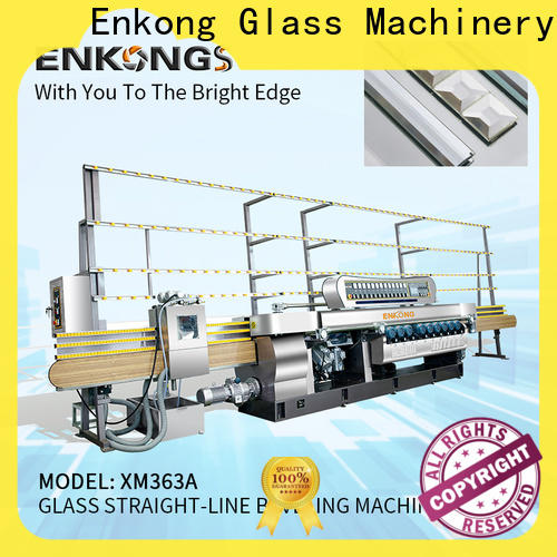 Enkong real glass beveling machine for sale factory direct supply for glass processing