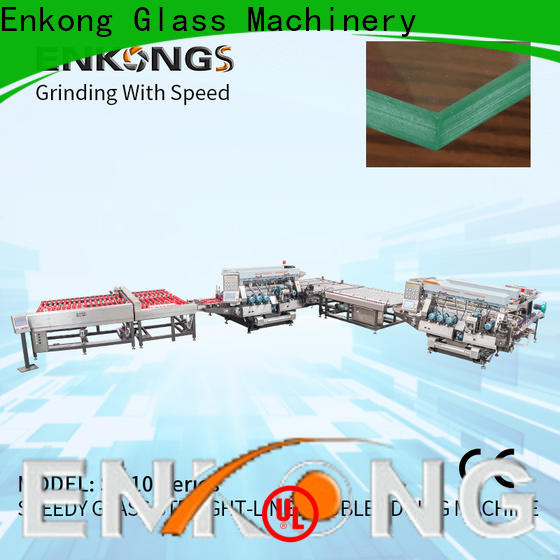 Enkong high speed double edger factory direct supply for photovoltaic panel processing