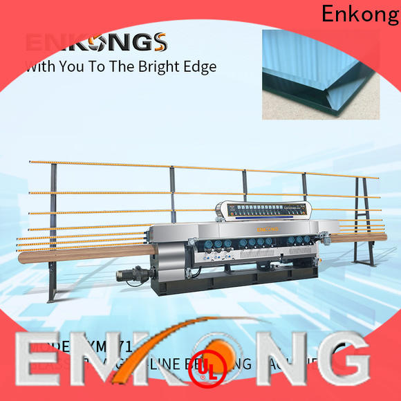 Enkong 10 spindles glass beveling machine factory direct supply for glass processing