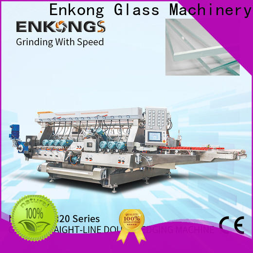 Enkong straight-line glass double edging machine manufacturer for photovoltaic panel processing
