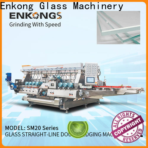 high speed glass double edging machine SM 12/08 manufacturer for household appliances