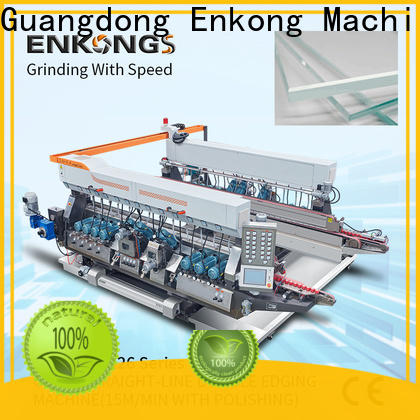 high speed glass double edging machine SM 10 series for round edge processing