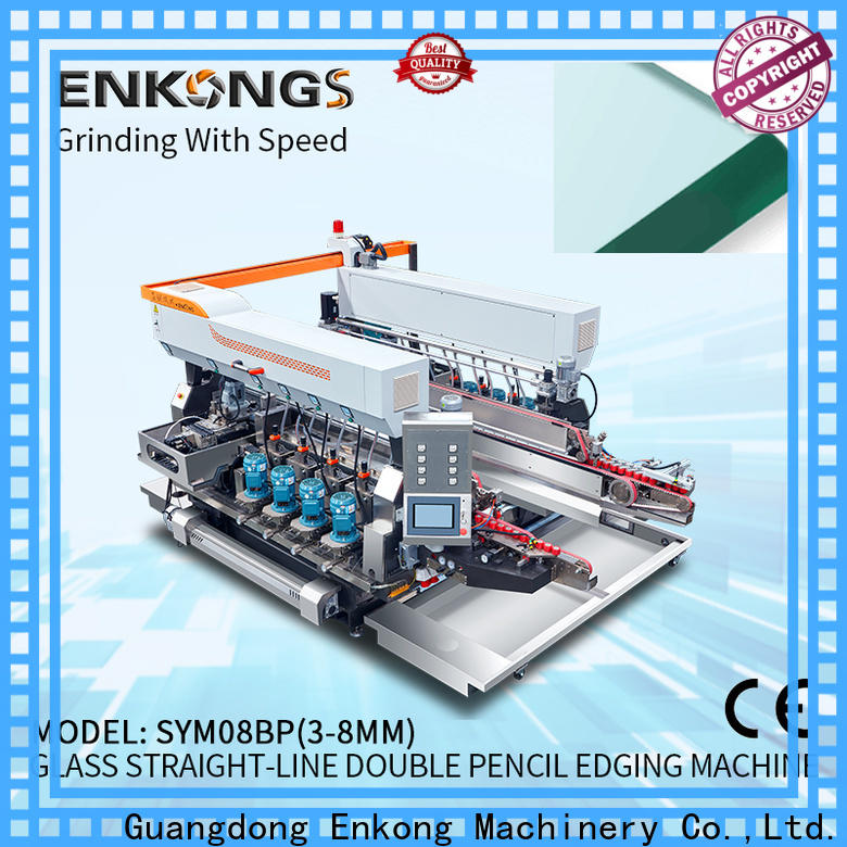 Enkong SM 12/08 glass double edging machine factory direct supply for photovoltaic panel processing