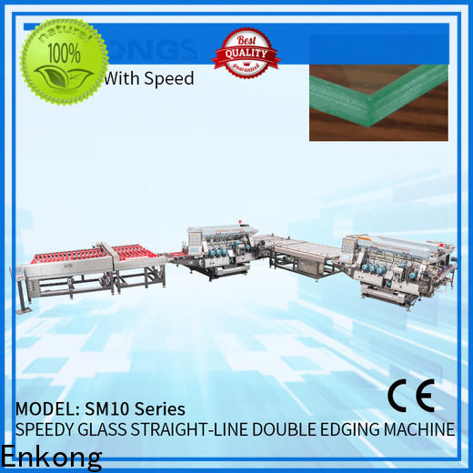 Enkong straight-line glass double edger manufacturers for household appliances