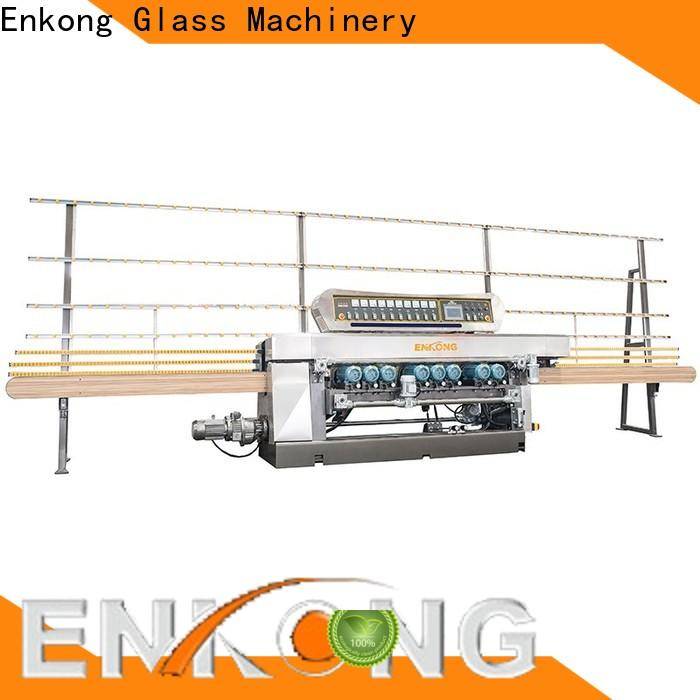 Enkong xm351 glass straight line beveling machine supply for polishing