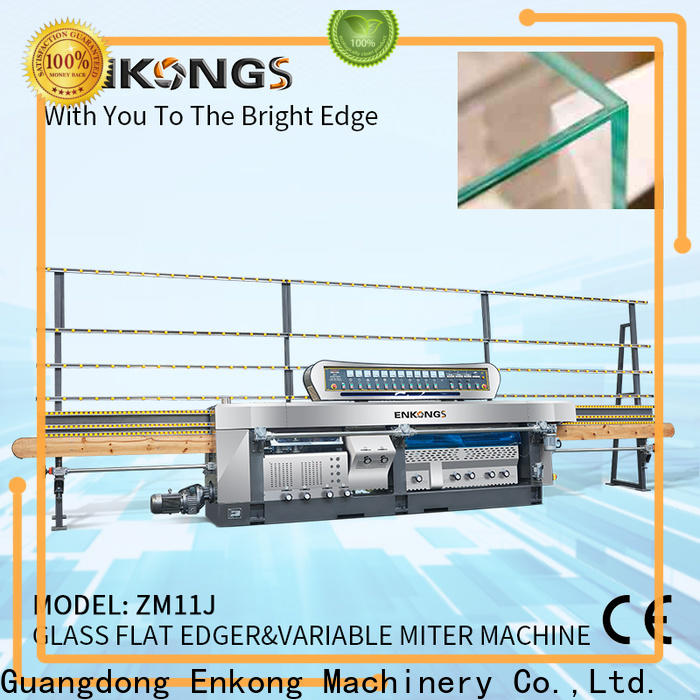 Enkong variable glass manufacturing machine price suppliers for round edge processing