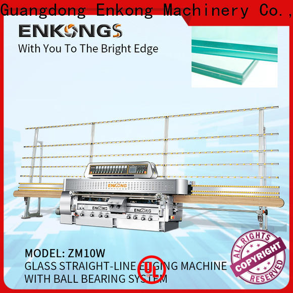 Enkong 45° arrises steel glass making machine price supply for processing glass
