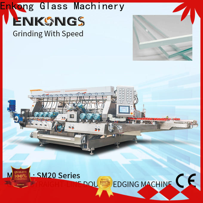 Enkong SM 10 automatic glass edge polishing machine suppliers for round edge processing