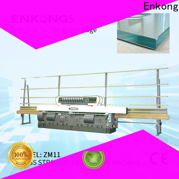 Enkong zm7y glass cutting machine manufacturers company for round edge processing