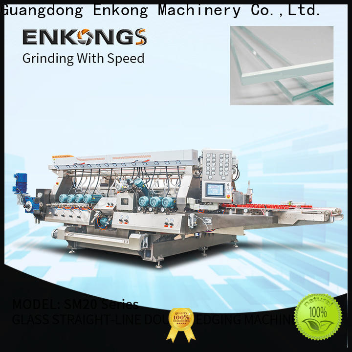 Enkong SM 22 double glass machine company for round edge processing
