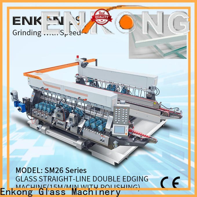 Enkong SYM08 double glass machine for business for round edge processing