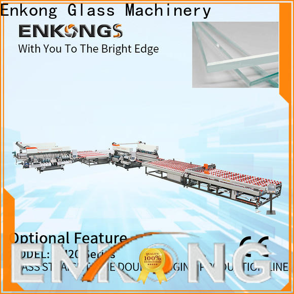Enkong modularise design glass double edging machine company for round edge processing