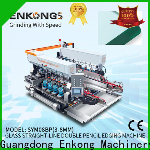 Enkong SYM08 glass double edger company for round edge processing
