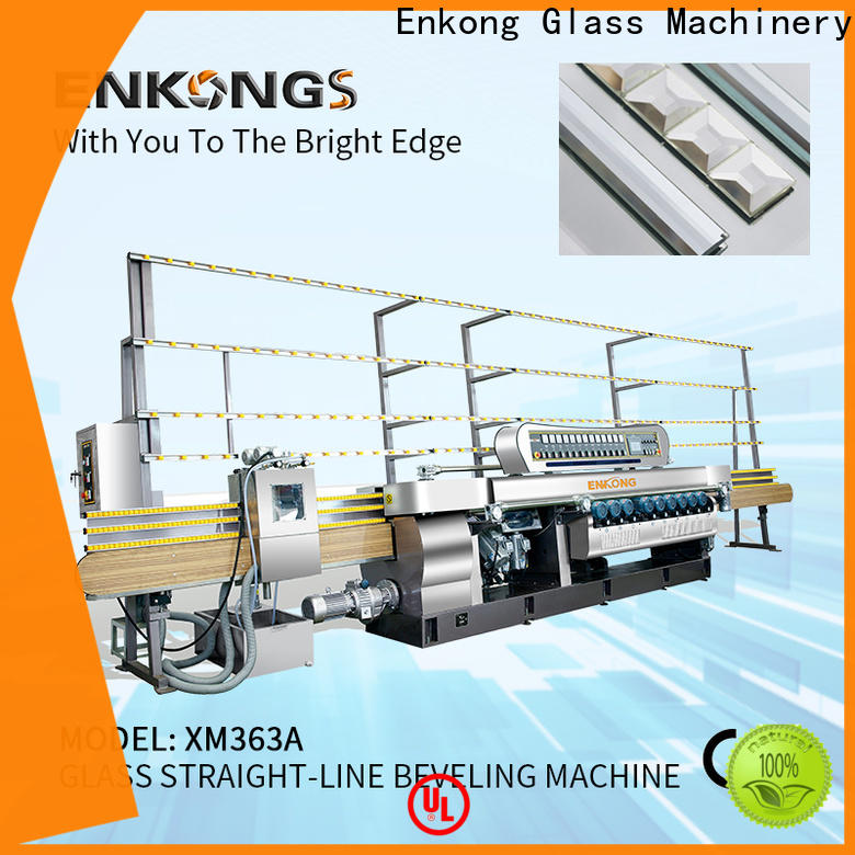 New glass straight line beveling machine xm371 factory for glass processing