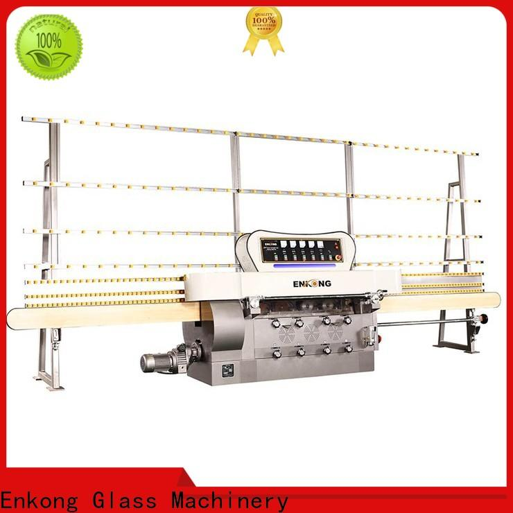 Enkong Top glass cutting machine for sale suppliers for round edge processing