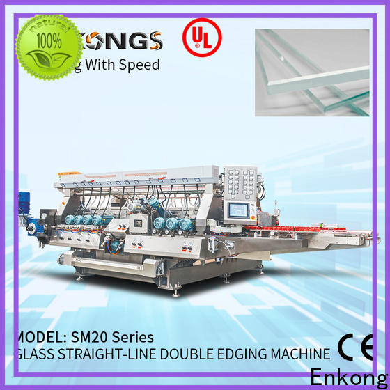 Enkong High-quality glass double edger machine supply for round edge processing