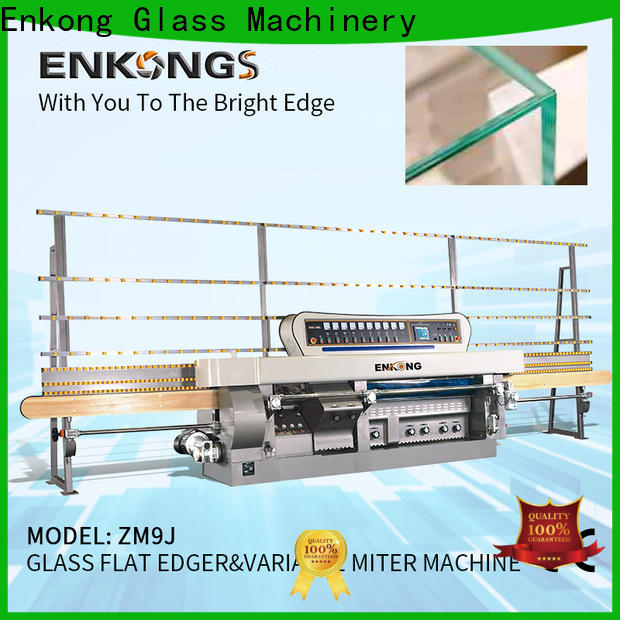 High-quality glass mitering machine 5 adjustable spindles factory for polish